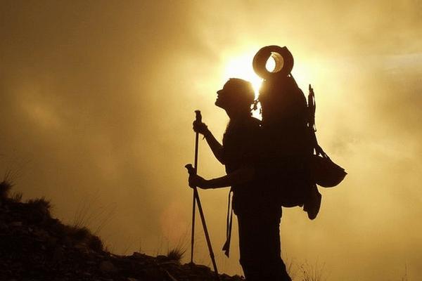 Spiritual mountain climber